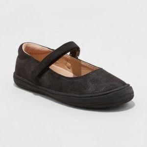 3 for 25 Girls Black Glitter Velcro Shoes-1